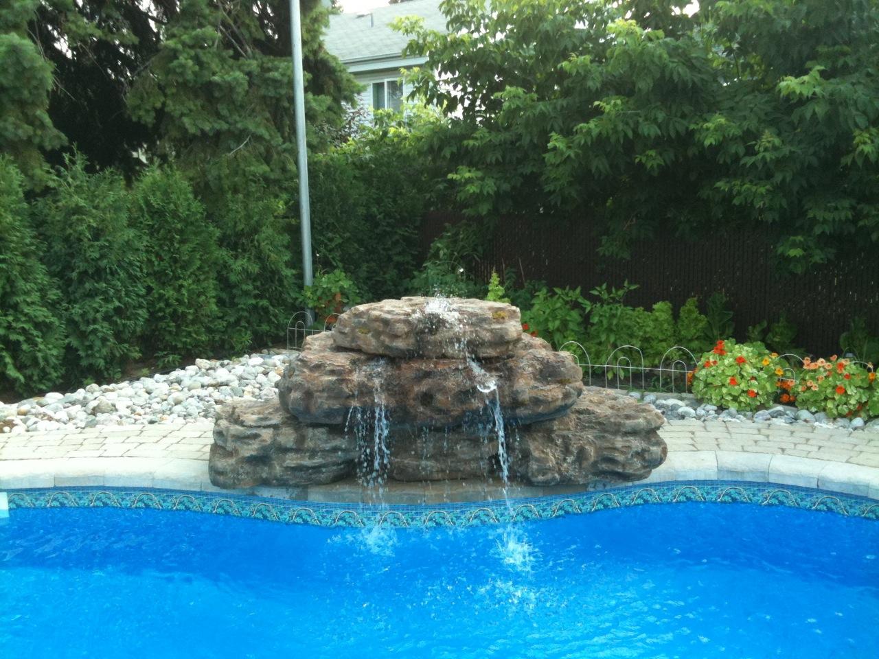 Fontaine d 39 eau copal pour piscines et cascade de bassin de - Horaire piscine fontaine d ouche ...